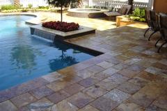 14 pool deck travertine paver gold